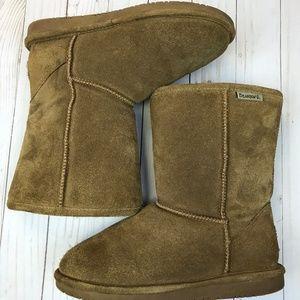 BEARPAW Emma Short Suede Boots Size 7